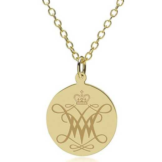 615789276685: William & Mary 18K Gold Pendant & Chain by M.LaHart & Co.