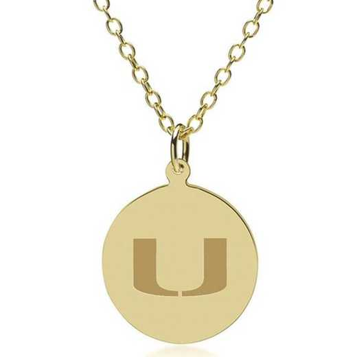 615789365723: Miami 18K Gold Pendant & Chain by M.LaHart & Co.