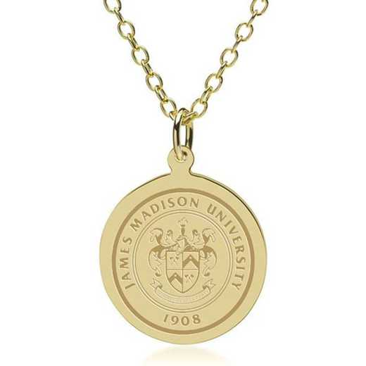 615789404606: James Madison 18K Gold Pendant & Chain by M.LaHart & Co.