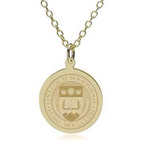 615789495307: Boston College 18K Gold Pendant & Chain by M.LaHart & Co.