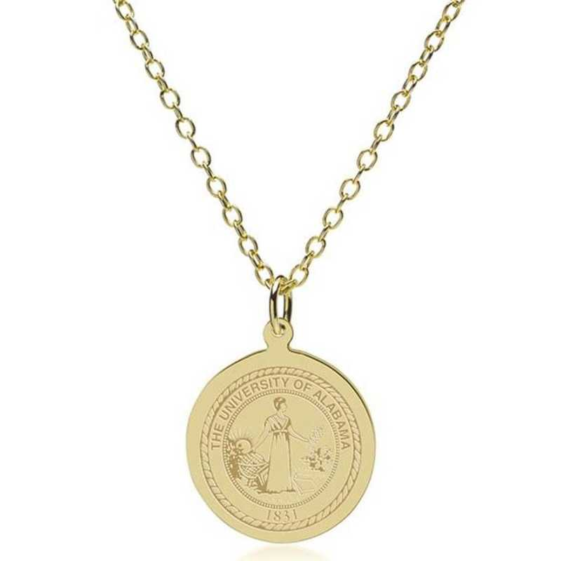 615789502890: Alabama 18K Gold Pendant & Chain by M.LaHart & Co.