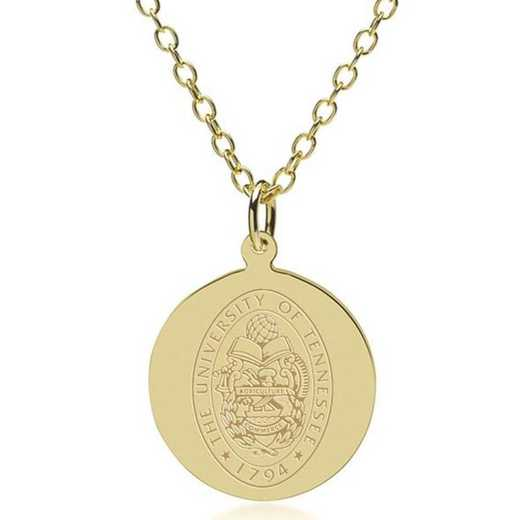 615789642169: Tennessee 18K Gold Pendant & Chain by M.LaHart & Co.