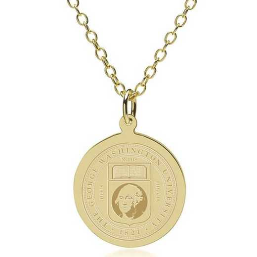615789674818: George Washington 18K Gold Pendant & Chain by M.LaHart & Co.