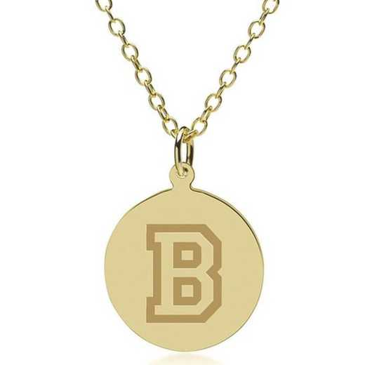 615789735403: Bucknell 18K Gold Pendant & Chain by M.LaHart & Co.