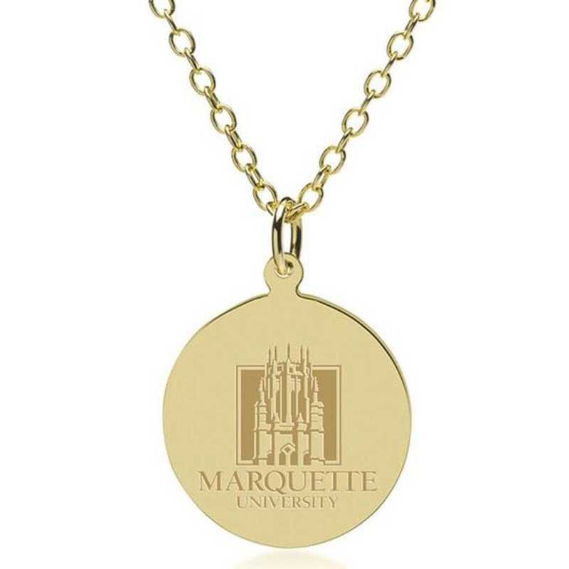 615789738350: Marquette 18K Gold Pendant & Chain by M.LaHart & Co.