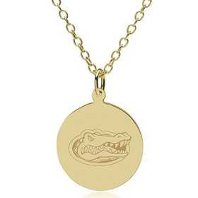 615789789901: Florida 18K Gold Pendant & Chain by M.LaHart & Co.