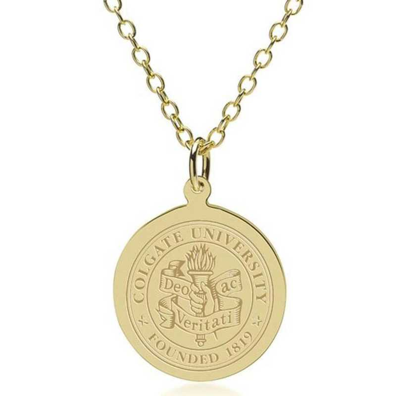 615789931072: Colgate 18K Gold Pendant & Chain by M.LaHart & Co.