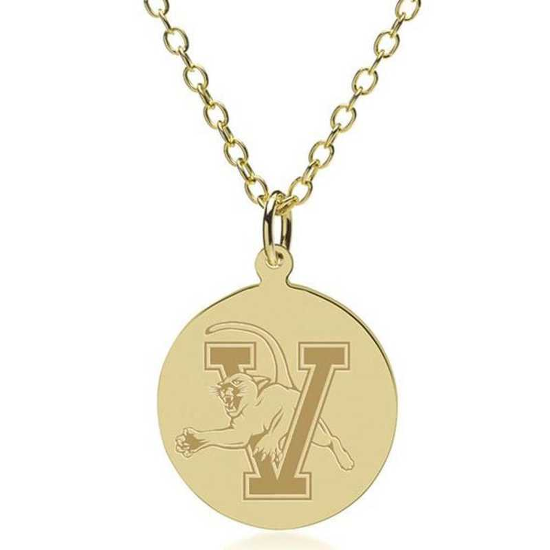 615789936350: Vermont 18K Gold Pendant & Chain by M.LaHart & Co.