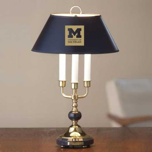 615789262848: University of Michigan Lamp in Brass & Marble