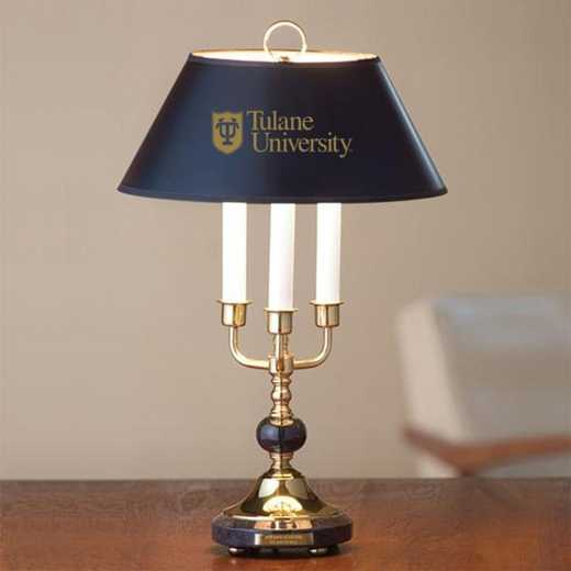 615789477945: Tulane University Lamp in Brass & Marble