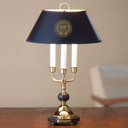 615789589112: US Merchant Marine Academy Lamp in Brass & Marble