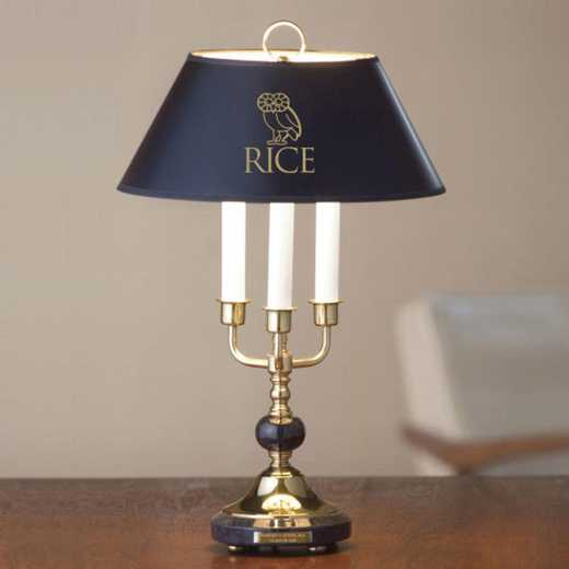 615789654919: Rice University Lamp in Brass & Marble