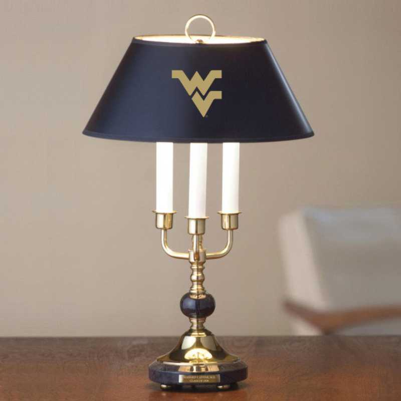615789681007: West Virginia University Lamp in Brass & Marble