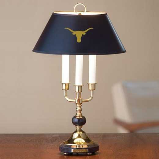 615789742753: University of Texas Lamp in Brass & Marble