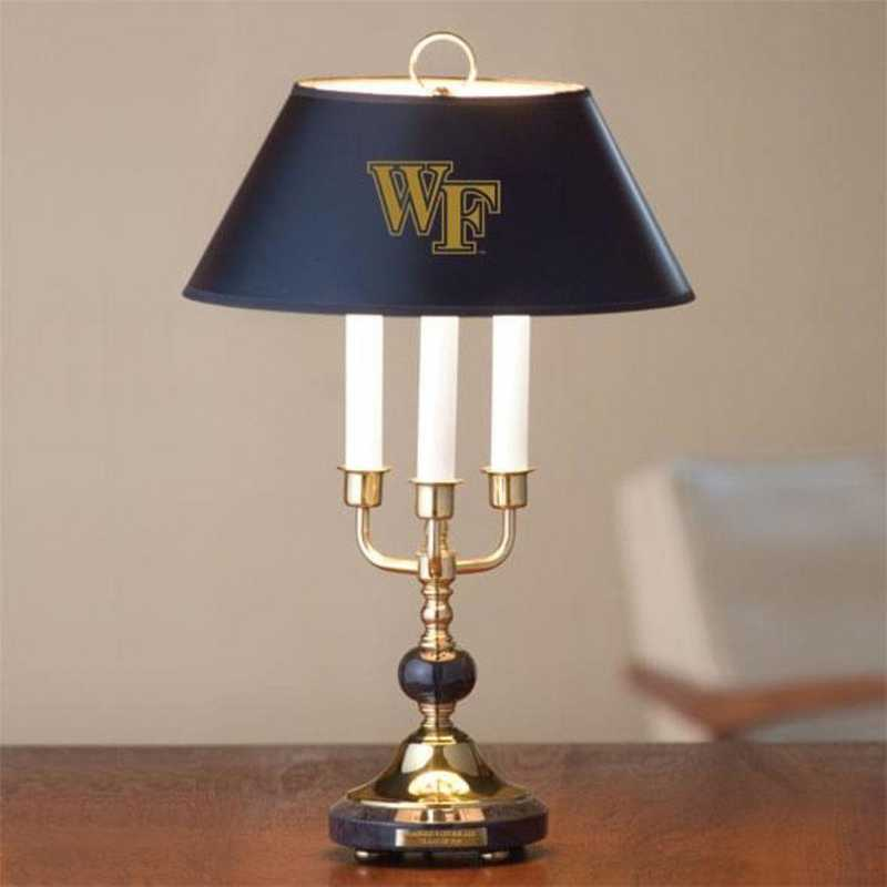 615789940241: Wake Forest University Lamp in Brass & Marble