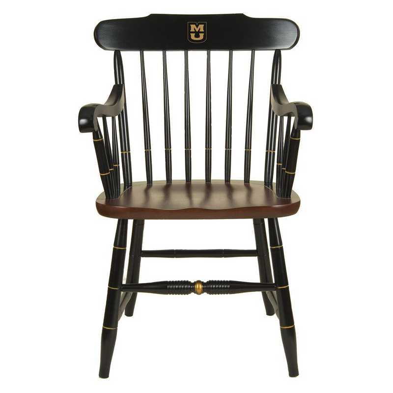 615789070795: University of Missouri Captain's Chair by Hitchcock