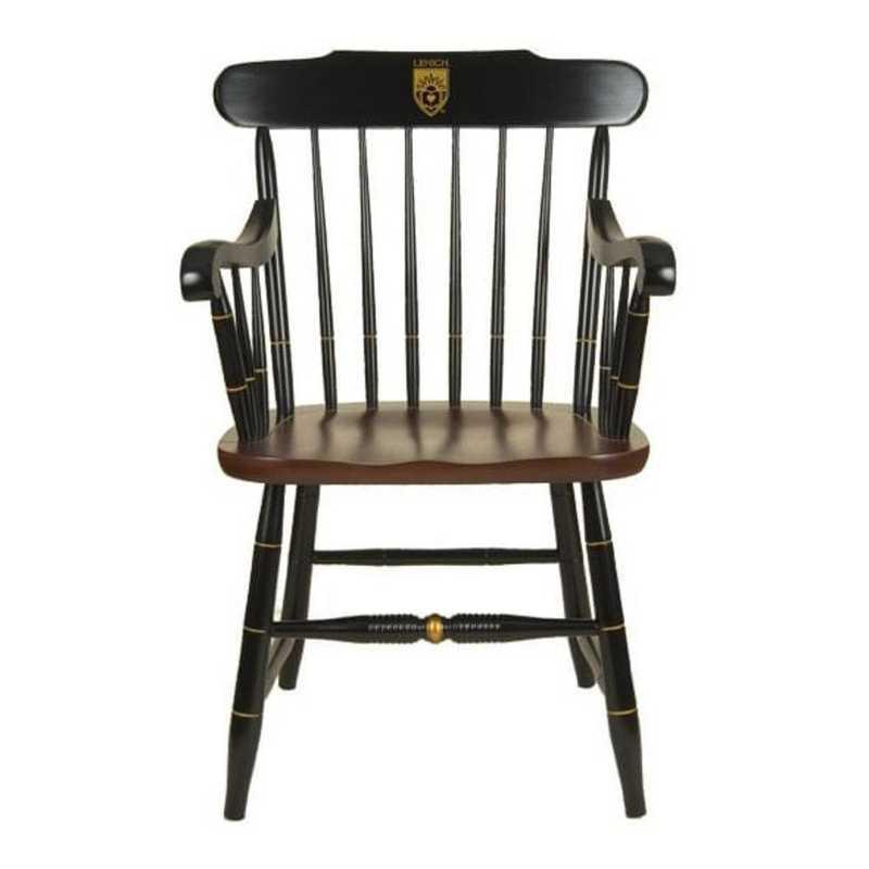 615789199717: Lehigh University Captain's Chair by Hitchcock