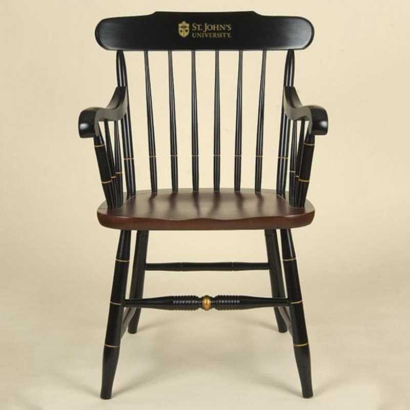 615789224273: St. John's University Captain's Chair by Hitchcock