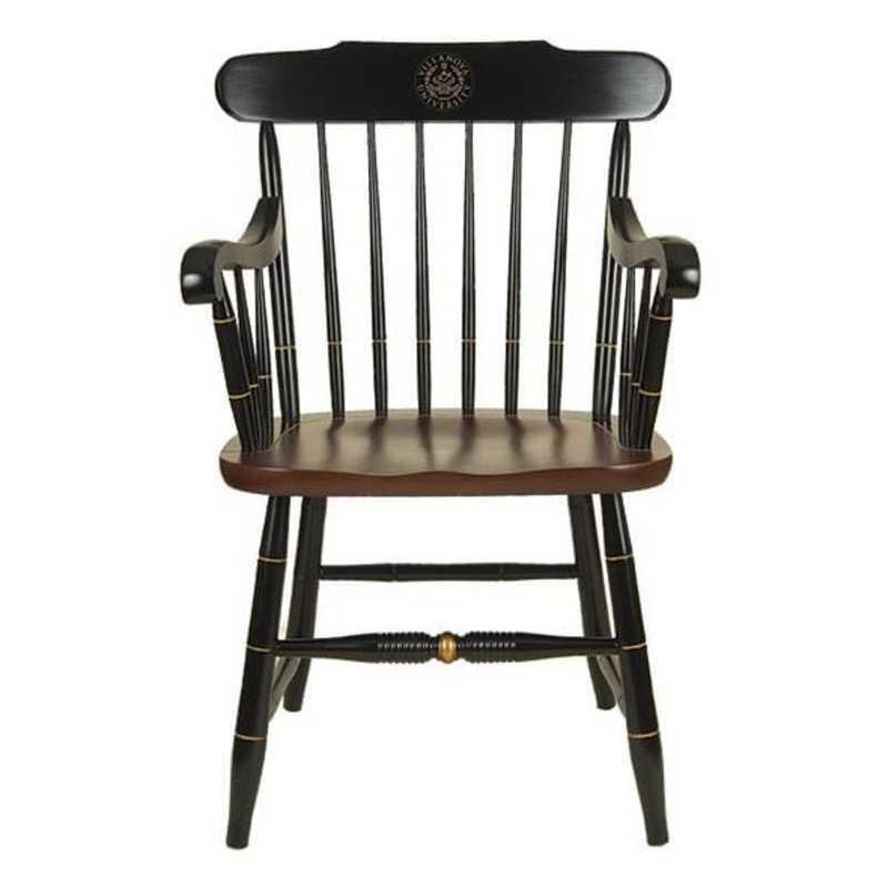 615789350637: Villanova University Captain's Chair by Hitchcock