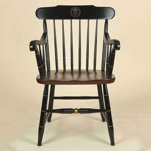 615789503262: Texas Tech Captain's Chair by Hitchcock