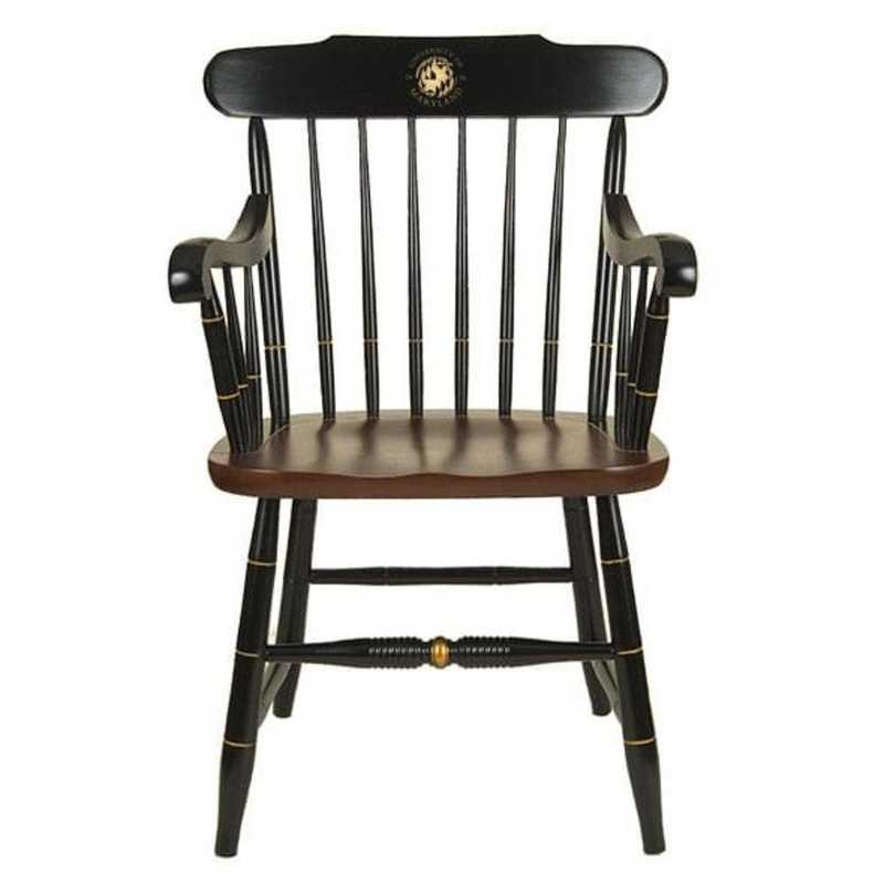 615789580706: University of Maryland Captain's Chair by Hitchcock