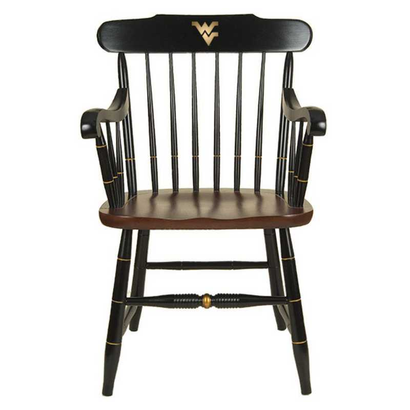 615789731399: West Virginia University Captain's Chair by Hitchcock