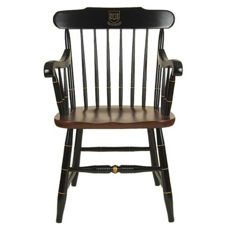 615789900214: Yale University Captain's Chair by Hitchcock