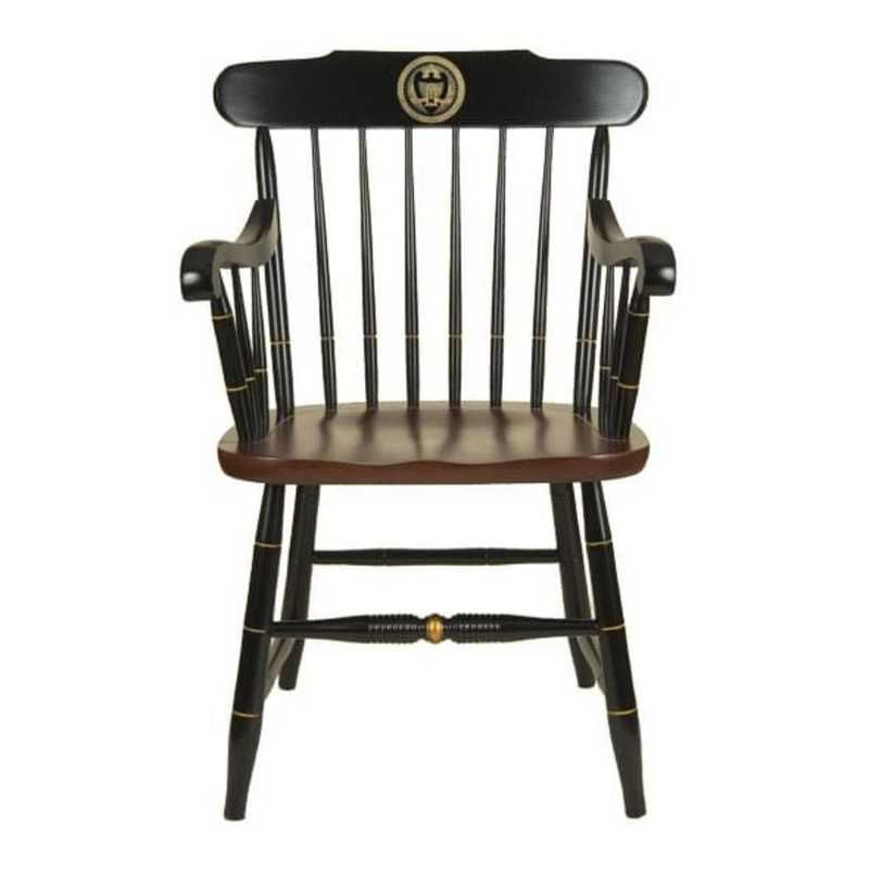 615789955917: Georgia Tech Captain's Chair by Hitchcock