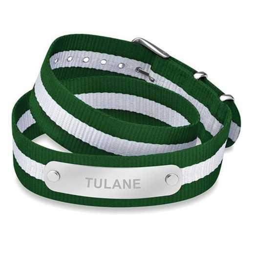 615789039242: Tulane University (Size-Large) Double Wrap NATO ID Bracelet