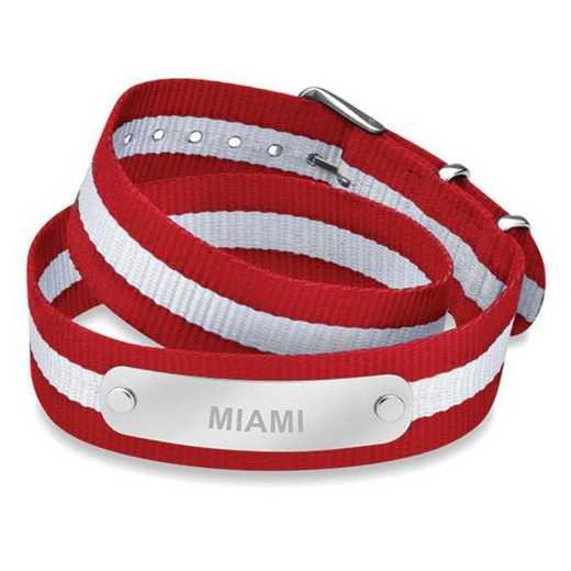 615789065234: Miami University (Size-Medium) Double Wrap NATO ID Bracelet