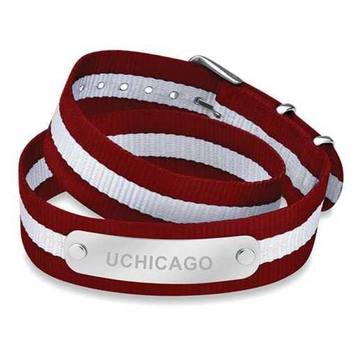 615789128113: Chicago (Size-Large) Double Wrap NATO ID Bracelet