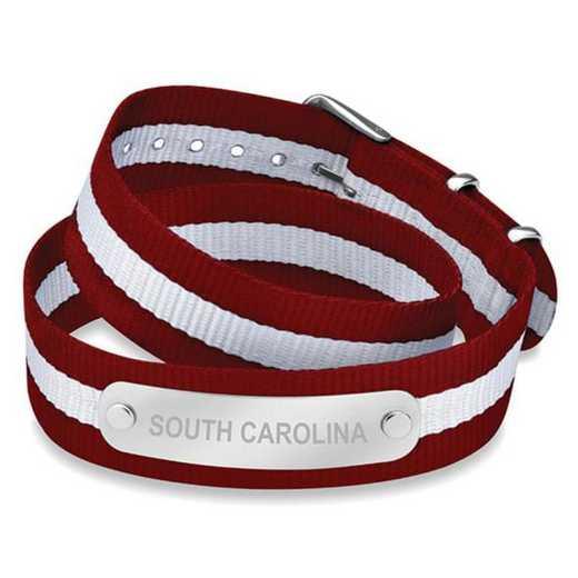 615789193968: South Carolina (Size-Medium) Double Wrap NATO ID Bracelet