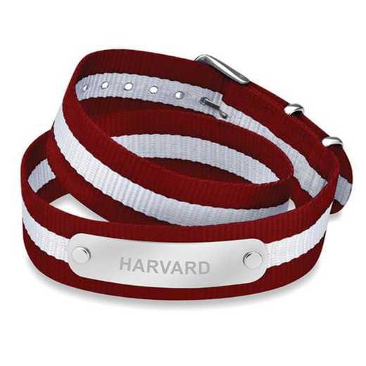 615789200628: Harvard (Size-Large) Double Wrap NATO ID Bracelet