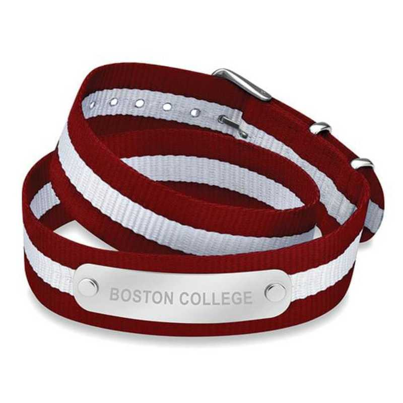 615789263708: Boston College (Size-Medium) Double Wrap NATO ID Bracelet