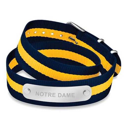 615789379294: Notre Dame (Size-Medium) Double Wrap NATO ID Bracelet