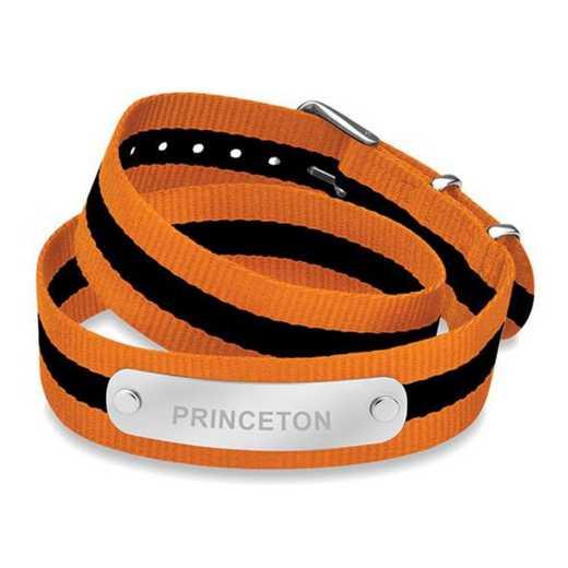 615789457442: Princeton (Size-Large) Double Wrap NATO ID Bracelet