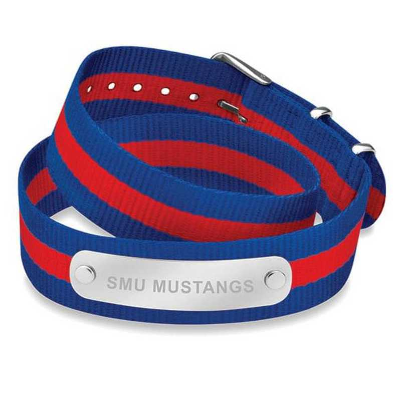 615789567271: SMU (Size-Medium) Double Wrap NATO ID Bracelet