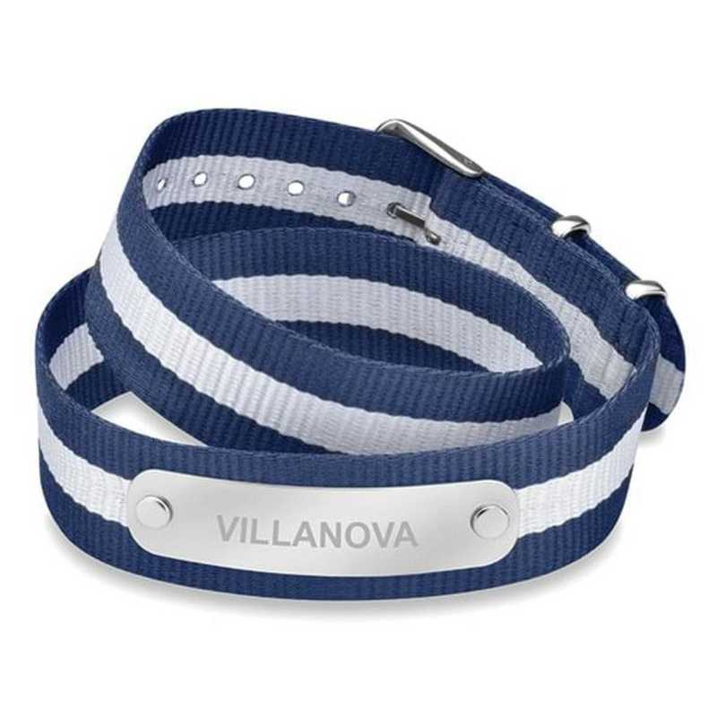 615789571278: Villanova (Size-Large) Double Wrap NATO ID Bracelet