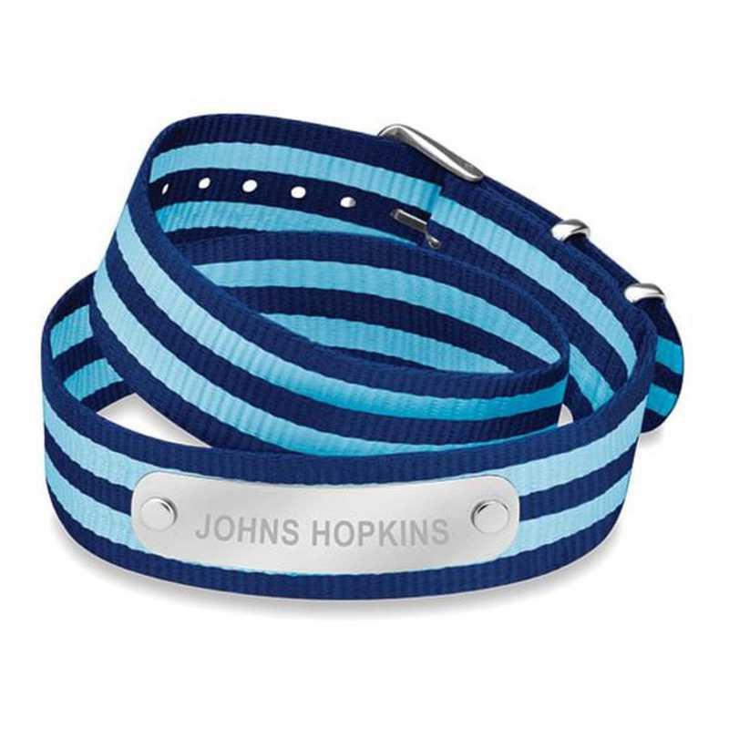 615789583783: Johns Hopkins (Size-Large) Double Wrap NATO ID Bracelet