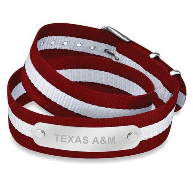 615789592358: Texas A&M (Size-Large) Double Wrap NATO ID Bracelet