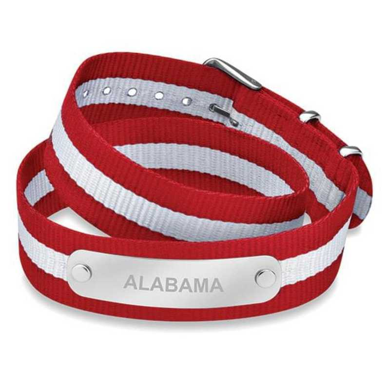 615789604761: Alabama (Size-Large) Double Wrap NATO ID Bracelet