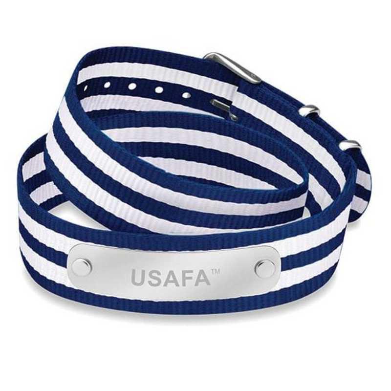 615789629931: Air Force Academy (Size-Large) Double Wrap NATO ID Bracelet