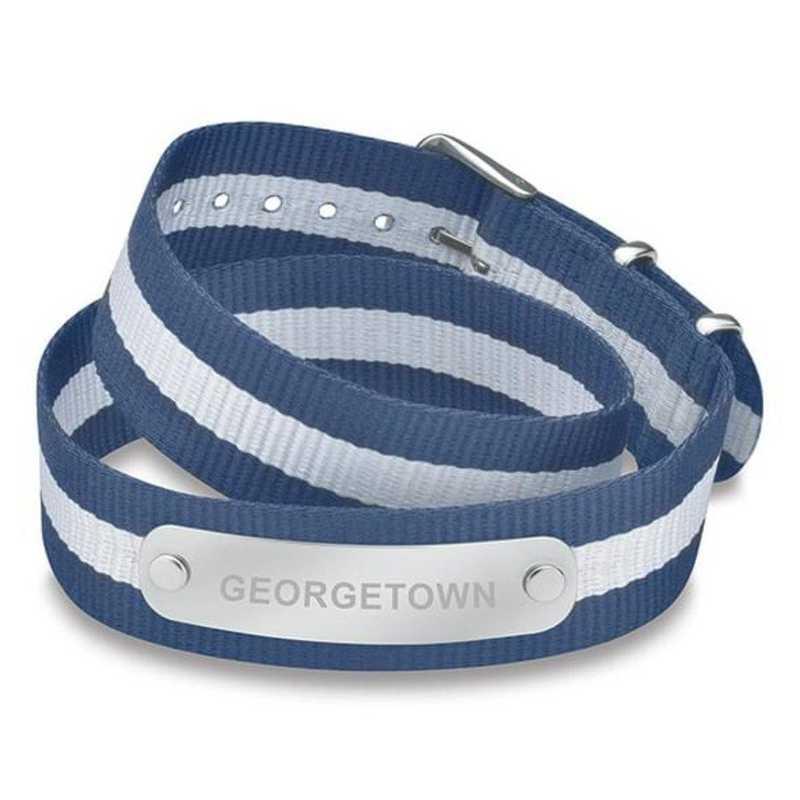 615789695400: Georgetown (Size-Medium) Double Wrap NATO ID Bracelet