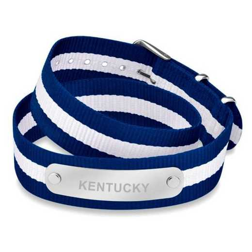 615789890829: Kentucky (Size-Large) Double Wrap NATO ID Bracelet