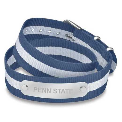 615789908005: Penn State (Size-Medium) Double Wrap NATO ID Bracelet