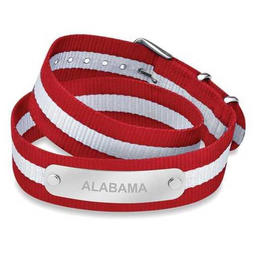 615789915126: Alabama (Size-Medium) Double Wrap NATO ID Bracelet