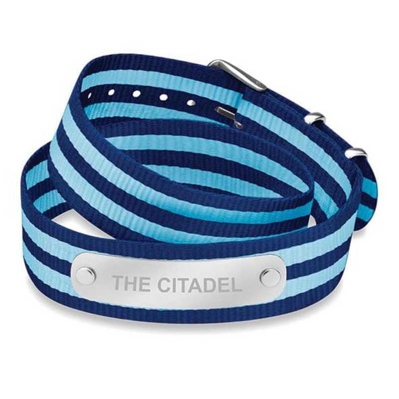 615789944904: Citadel (Size-Medium) Double Wrap NATO ID Bracelet