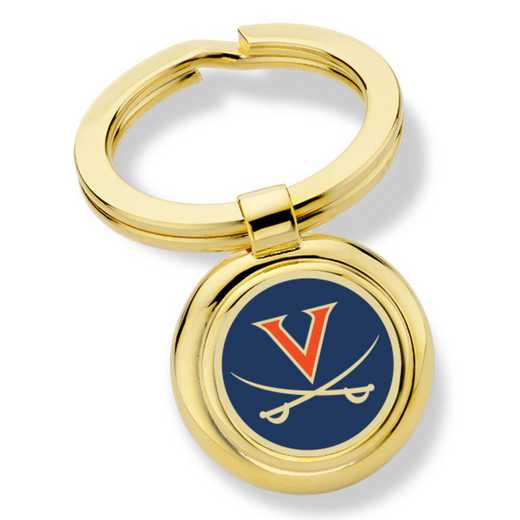 615789073208: University of Virginia Enamel Key Ring by M.LaHart & Co.