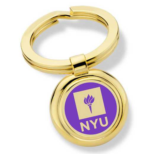 615789654445: New York University Enamel Key Ring by M.LaHart & Co.