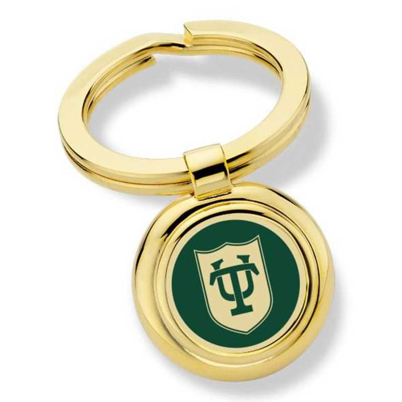 615789822042: Tulane University Key Ring by M.LaHart & Co.
